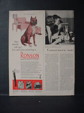 1951 Boxer Dog Ronson Lighter They Should Ask Him Vintage Print Ad 11241