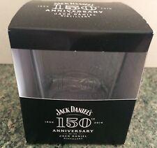 Jack Daniels 150th Anniversary Whisky Tumbler Rocks Glass New Boxed