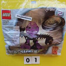 MIP McDonald's 2001 Lego Bionicle #2 ONEPU Matoran Set 1389 8 Pieces SEALED TOY