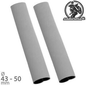 Neopren Gabelschützer lang grau bis 50 mm (Gabel,Schützer,Gabelschutz,43,46,48)