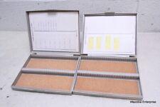 2 S/P SCIENTIFIC PRODUCTS MICROSCOPE SLIDE STORAGE CASE