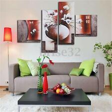 4Pcs Huge Flower Canvas Modern Oil Painting Print Art Wall Home Decor No Frame