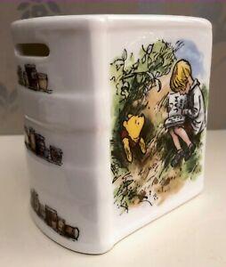 Royal Doulton Disney Winnie the Pooh Christopher Robin Porcelain Book Money Box