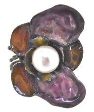 Anelli di lusso con gemme bianco perla