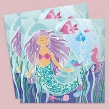 Mermaid party napkins, paper napkins, mermaid birthday, party napkins, PAR9848