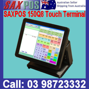 SAXPOS 150Q8 All-in-One Touch Terminal ATOM D525 2GB 32GB SSD Rear Price Display
