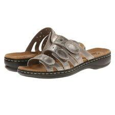 NEW Clarks Women's 10M Pewter Leisa Cacti Slide Sandal
