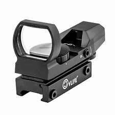 Reflex Sight Adjustable Reticle Red Green Dot Scope Tactical Rifle Airsoft Gun