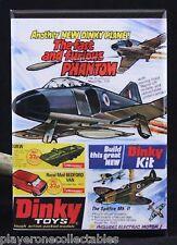 "Dinky Toys Phantom Plane 2"" X 3"" Fridge Magnet. Vintage UK Toy Advertising"
