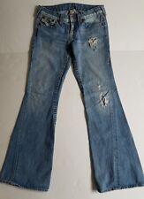 "True Religion Joeys Big T Twisted Flare Jeans, Size 29"" Waist/33"" Inseam"