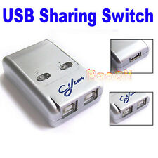 2 Port USB 2.0 auto Sharing  HUB Switch schalter für Printer Drucker Scanner GE