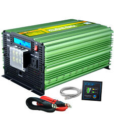 Power Inverter Pure Sine Wave 3500W 7000W 12V 240V Camping Caravan Boat Remote