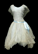 Ancienne robe de soirée charleston , tulle , 1920 ; Années folles art deco