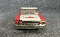 VINTAGE 1960s TIN LITHO FRICTION FORD GALAXY CAR FIRE CHIEF  10 1/2 LONG JAPAN