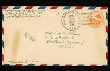 US Postal History Military #UC6 APO #797 Postmarked 1947 Andimeshk Persia to MD