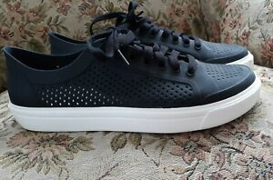 Crocs Size W10 Skater Shoes Lace Up Perferated Rubber Black