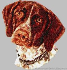 Embroidered Short-Sleeved T-Shirt - German Shorthaired Pointer DLE1542