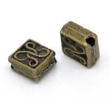 120 Bronze Tone Square Spacer Beads 5x5mm