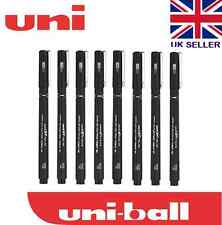 8 x UNI PIN DRAWING PEN FINELINER ULTRA FINE LINE MARKER IN BLACK 0.2