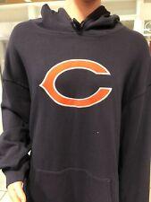 Chicago Bears cotton  Hooded Sweatshirt Hoodie MEN'S  navy  REEBOK NFL