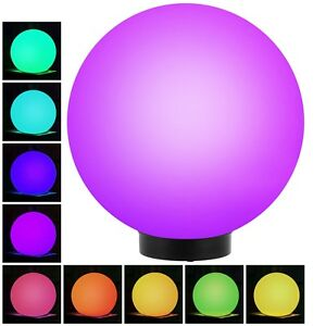 LED Garden Solar Light Ball COLOUR CHANGING Globe Sphere  Stake Walkway Garden