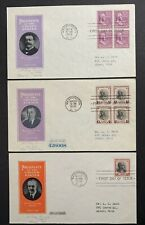 US #803/832, #834-1 FDC Ioor Cachet BLOCK of 4. Matched Address (31). Prexie