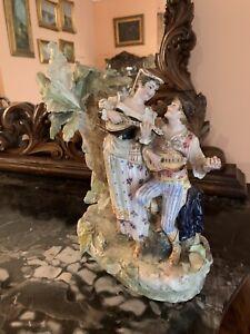 Coppia Ceramiche Capodimonte Fine 800