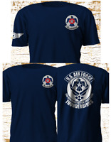 New USAF Air Demonstration Squadron Air Force Thunderbirds Navy T-Shirt S-4XL