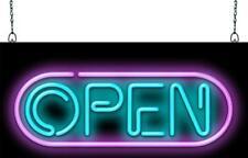 Techno Open Neon Sign | Jantec | 3 Sizes | 80's Retro Modern Real Neon Light