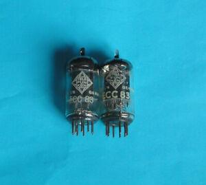 2 Röhren / tubes ECC83, TELEFUNKEN      12AX7, ECC 83