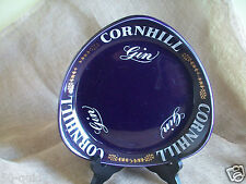 RARE VINTAGE CORNHILL GIN PORCELAIN ASHTRAY CHANGE DISH EMPIRE 1960s
