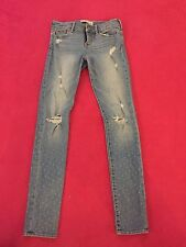 Abercrombie Kids Size 16 Slim Jeans Destroyed with holes and subtle dots GUC