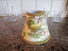 Kaufmann Gold Yellow Rooster Chicken French Country Toile Lamp Shade Chandelier