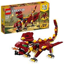LEGO 31073 Creator Mythical Creatures Fire Breathing Dragon 3-IN-1 Model Toy Set