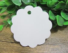 100 White Blank Gift Tag Label Wedding Bomboniere Favour 6x6cm