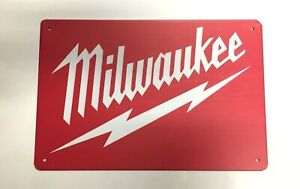 Milwaukee Tools Style2 Metal Tin Signs - Impact Fuel Combo Hammer Drill Driver