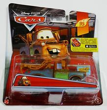 Disney Pixar Cars  MATER WITH SIGN   Rare UK Over 100 Cars Listed !!