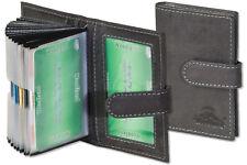 Woodland® Kreditkartenetui aus Leder in Anthrazit mit Platz für min. 19 Karten