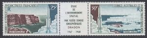 TAAF 1968 MNH Sc C16a Mi 42-43 Space explorations with Dragon rockets .CV 75$ **