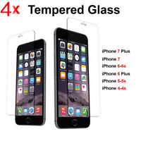 4X Scratch Resist Tempered Glass Screen Protector for iphone 8 7 plus 6 6s 5SE X