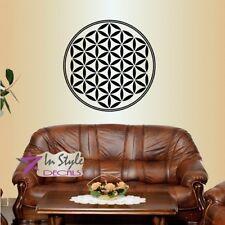 Wall Vinyl Flower of Life Mandala Sacred Geometry Abstract Yoga Art Sticker 676