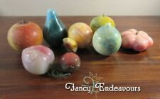 Mixed Lot Antique Carved Stone Alabaster Fruit