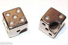 Paire de bouchons de valves LUCKY DICES chromés