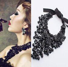 Punte Collare Nero Gotico Collier Victorian Pietre Di Sfaccettatura
