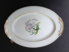 "Aladdin Fine China, Occupied Japan DONNA LILY - 12"" SMALL OVAL SERVING PLATTER"