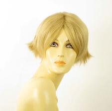 perruque femme 100% cheveux naturel courte blonde ref ESTHER 22