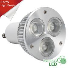 Bombilla LED GU10 3*2W High Power Blanco Puro 220V - Únicamente 6W.