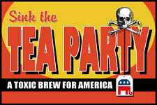 "Anti TEA PARTY ""A Toxic Brew for America"" Limited Edition Postcard"