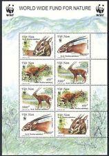 Vietnam 2000 WWF/Deer/Animals/Nature/Conservation/Environment 8v sht ref:s446