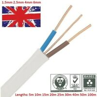 NEW TWIN AND EARTH CABLE WIRE 1.5mm 2.5mm 4mm 6mm White LSZH Cheapest on eBay